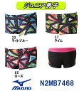 ●●【N2MB7468】MIZUNO(ミズノ) ジュニア男子競泳練習水着 EXER SUITS U-Fit Dynamotion Fit ショートスパッツ[競泳...