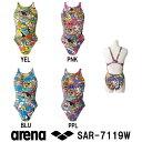 【SAR-7119W】ARENA(アリーナ) レディース競泳練習水着 タフスーツ タフスキンD スーパーストリーナ[アリーナ君/アリーナくん/競泳水着/女性用/練習用水着/長持ち]