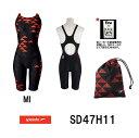 【送料無料】【SD47H11】SPEEDO(スピード) レディース競泳水着 FLEX Σ ウイメンズセミオープンバックニースキン6[競泳/女性用/スパッツタイプ/FINA承認/Symbolizing