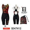 【送料無料】【SD47H12】SPEEDO(スピード) レディース競泳水着 FLEX Σ ウイメンズセミオープンバックニースキン6[競泳水着/女性用/スパッツ/FINA承認Symbolizing Ja
