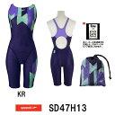 【送料無料】【SD47H13】SPEEDO(スピード) レディース競泳水着 FLEX Σ ウイメンズセミオープンバックニースキン6[競…