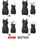 ●●【SD57S50】SPEEDO(スピード) レディースフィットネス水着 FLEX Σ ウイメンズセパレーツ(縫込みパッド付き)[Stack logo collection/女性用/フィットネス]