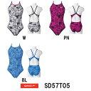 【SD57T05】SPEEDO(スピード) レディース競泳練習水着 DREAM TEAM ENDURANCE J ウイメンズトレインカットスーツ[女性用/練習用/長持ち/競泳水着]