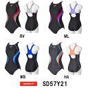 【SD57Y21】SPEEDO(スピード) レディース競泳水着 FLEX Cube ウイメンズスイムスーツ(縫込みパッド付き)[女性用/背開き小さめタイプ/競泳]