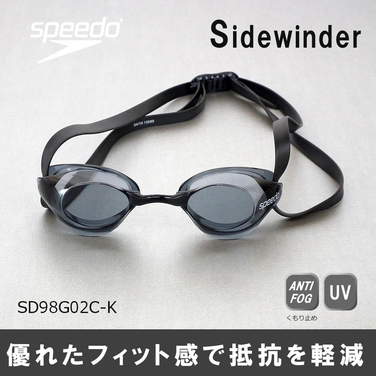 【スイムゴーグル】SPEEDO スピード ノンクッション スイミングゴーグル クリアタイプ サイドワインダー 水泳 SD98G02C-K