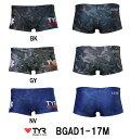 【BGAD1-17M】TYR(ティア) メンズトレーニング水着 TYR GUARD メンズガードショートボクサー[練習用水着/ショートスパッツ/ボクサーパンツ/...