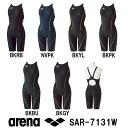 【SAR-7131W】ARENA(アリーナ) レディース競泳水着 UROKO SKIN ST セイフリーバックスパッツ(着やストラップ)(差し込みフィットパッド...