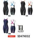 【送料無料】【SD47H032】SPEEDO(スピード) レディース競泳水着 FLEX Cube ウイメンズオープンバックニースキン[女性…