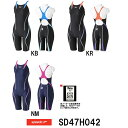 【送料無料】【SD47H042】SPEEDO(スピード) レディース競泳水着 FLEX Cube ウイメンズセミオープンバックニースキン[女性用/競泳/FINA承認]