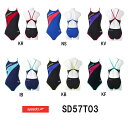 【SD57T03】SPEEDO(スピード) レディース競泳練習水着 DREAM TEAM ENDURANCE J ウイメンズトレインカットスーツ[女性用/練習用/長持ち/競泳水着]