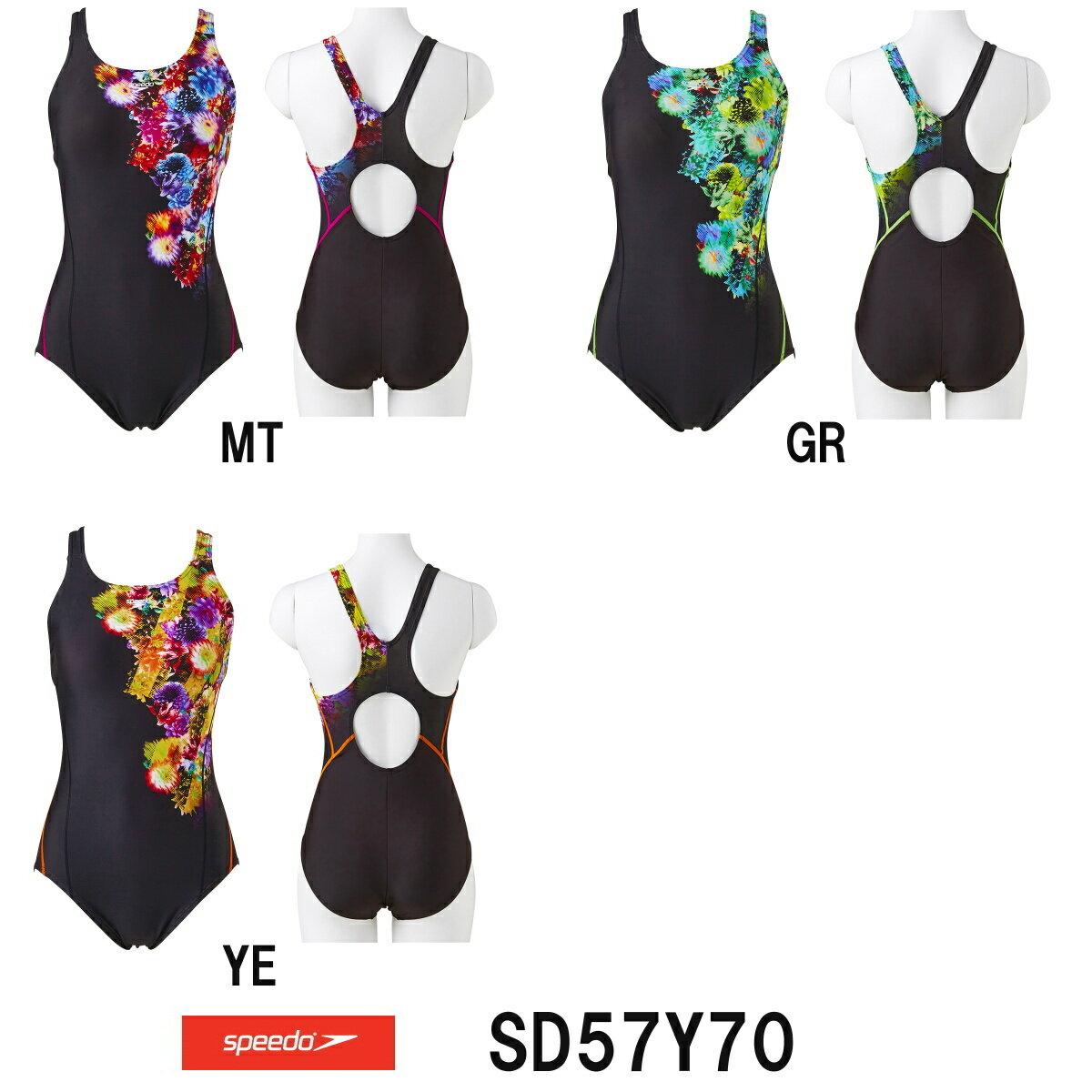 《今すぐ使えるクーポン配布中》スピード SPEEDO レディース 競泳水着 STREAM 2WAY ウイメンズスーツ(吊りパッド付き) 2017年秋冬モデル SD57Y70-HK