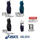 【送料無料】asics アシックス 競泳水着 レディース スイムウェア スイミング TOP iMPACT LINE 縫製タイプ スパッツ fina承認 専用フィッテンググローブ付き ASL504
