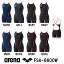 arena アリーナ 競泳練習用水着 レディース スイムウェア スイミング タフ・ミドルスパッツS タフスーツ タフスキンストライプ FSA-6600W