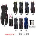【送料無料】SPEEDO スピード 競泳水着 FLEX Cube 女性用 レディース スイムウェア スイミング ウイメンズオープンバックニースキン FINA承認モデル SD46H03