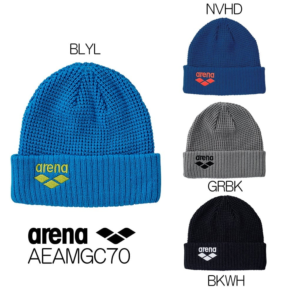 アリーナ ARENA ニットキャップ 2018年秋冬モデル 防寒 あったか 寒さ対策 保温 AEAMGC70