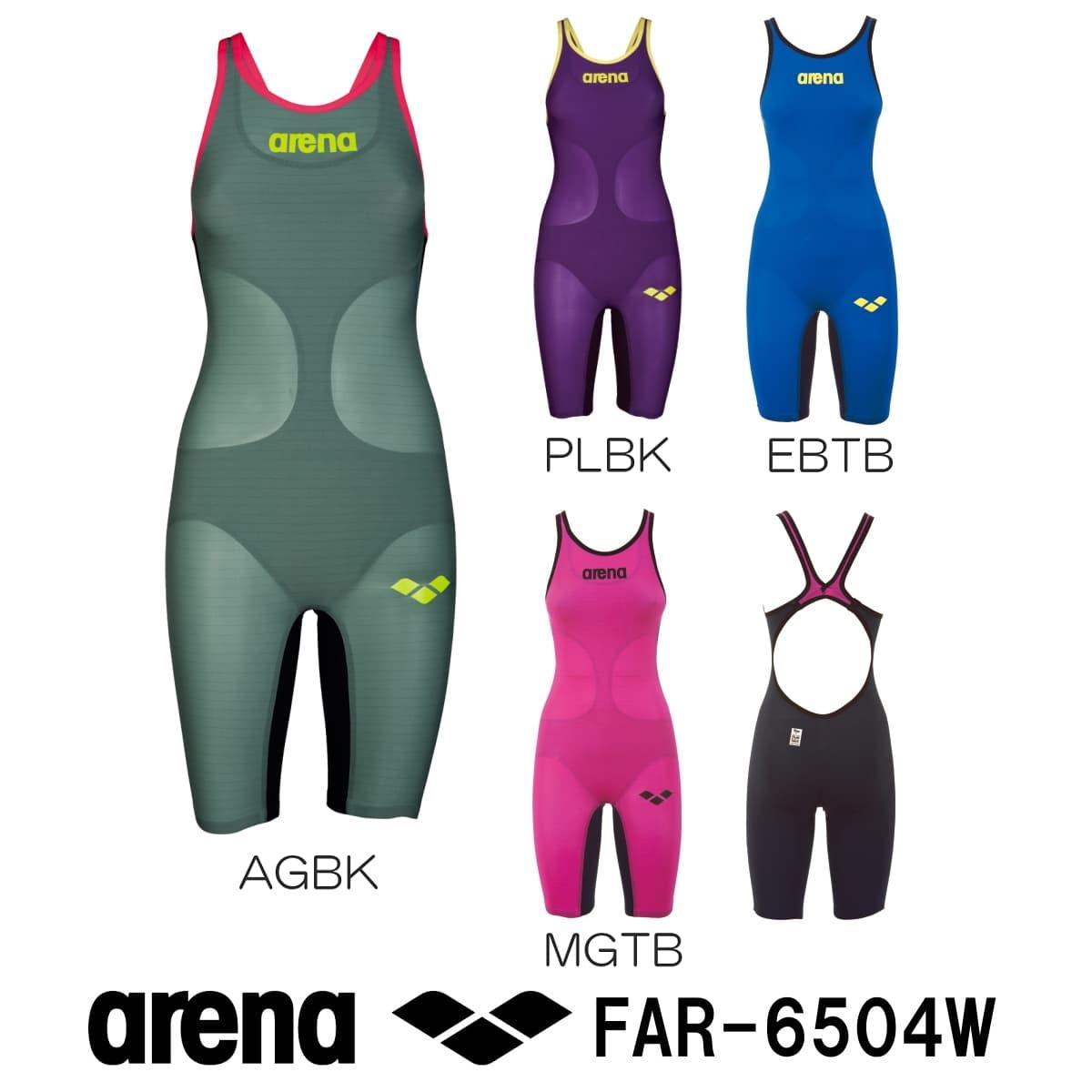【ポイント10倍/送料無料】アリーナ ARENA 競泳水着 レディース ハーフスパッツオープンバック fina承認 POWERSKIN CARBON-AIR(パワースキン カーボン・エア) FAR-6504W