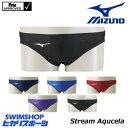 ミズノ MIZUNO 競泳水着 メンズ fina承認 Vパンツ Stream Aqucela ソニックフィットAC N2MB8022