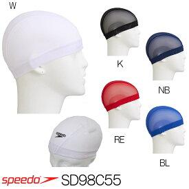 スピード SPEEDO 水泳 マークレスメッシュキャップ スイムキャップ SD98C55