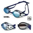 スイミングゴーグル 水泳 ジュニア 子供用 FINA承認 競泳 ミラーゴーグル ノンクッション SWANS スワンズ SR-11JM-SMBL