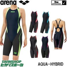 【3点以上のお買い物で5%OFFクーポン配布中】アリーナ ARENA 競泳水着 レディース fina承認 セイフリーバックスパッツ 着やストラップ AQUAHYBRID ARN-8080W