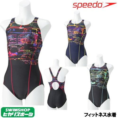 スピード SPEEDO 競泳水着 レディース ネオンライトスーツ パッド付き STREAM 2WAY 2019年春夏モデル SFW01932