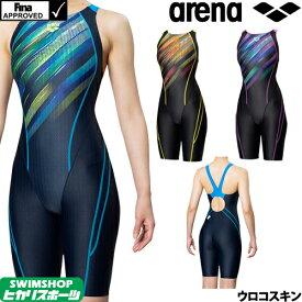 【3点以上のお買い物で3%OFFクーポン配布中】アリーナ ARENA 競泳水着 レディース FINA承認 セイフリーバックスパッツ(着やストラップ) UROKOSKIN ST 2019秋冬モデル FAR-9567W
