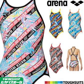 【3点以上のお買い物で5%OFFクーポン配布中】アリーナ ARENA 競泳水着 レディース 練習用水着 スーパーフライバック タフスーツ タフスキンD 競泳練習水着 2019年秋冬モデル FSA-9613W
