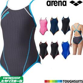 【3点以上のお買い物で5%OFFクーポン配布中】アリーナ ARENA 競泳水着 レディース 練習用水着 スーパーフライバック タフスーツ タフスキンDストライプ 競泳練習水着 SAR-6101W