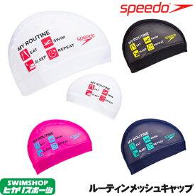 スピード SPEEDO 水泳 ルーティンメッシュキャップ スイムキャップ 水泳小物 2019年秋冬モデル SE11954