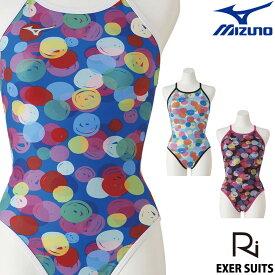 【クーポン利用で更にお値引き】ミズノ MIZUNO 競泳水着 レディース 練習用 ミディアムカット 池江璃花子 EXER SUITS U-Fit 競泳練習水着 2020年春夏モデル N2MA0275