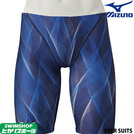 【3点以上のお買い物で5%OFFクーポン配布中】ミズノ MIZUNO 競泳水着 メンズ 練習用 ハーフスパッツ EXER SUITS U-Fit [GX SONIC5デザインモチーフ] 競泳練習水着 2020年春夏モデル N2MB0060
