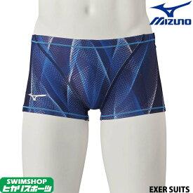 ミズノ MIZUNO 競泳水着 メンズ 練習用 ショートスパッツ EXER SUITS U-Fit [GX SONIC5デザインモチーフ] 競泳練習水着 2020年春夏モデル N2MB0061