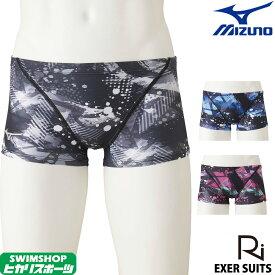 【3点以上のお買い物で5%OFFクーポン配布中】ミズノ MIZUNO 競泳水着 メンズ 練習用 ショートスパッツ 池江璃花子 EXER SUITS U-Fit 競泳練習水着 2020年春夏モデル N2MB0070