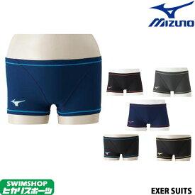 ミズノ MIZUNO 競泳水着 メンズ 練習用水着 エクサースーツ ショートスパッツ U-Fit 競泳練習水着 N2MB8060