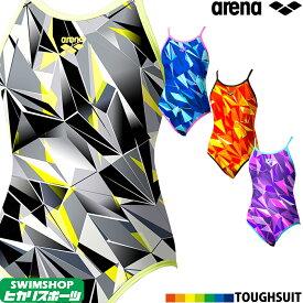【クーポン利用で更にお値引き】アリーナ ARENA 競泳水着 レディース 練習用 スーパーフライバック(ONEタイプ) タフスキンD 競泳練習水着 2020年春夏モデル SAR-0112W