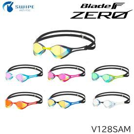 VIEW ノンクッション スイミングゴーグル ミラータイプ Blade F ZERO ブレードエフゼロ 競泳 レーシング 水泳 2020年モデル V128SAM