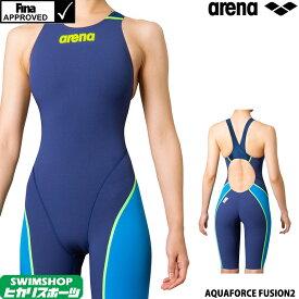 アリーナ ARENA 競泳水着 レディース fina承認 ハーフスパッツオープンバック(クロスバック) AQUAFORCE FUSION2 2020年秋冬モデル FAR-0510W