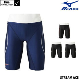 【15%OFFクーポン対象】ミズノ MIZUNO 競泳水着 メンズ fina承認 ハーフスパッツ STREAM ACE ストリームフィットA N2MB0024
