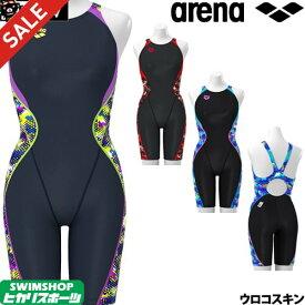 《クーポンで更にお値引き》アリーナ ARENA 競泳水着 レディース FINA承認 セイフリーバックスパッツ(着やストラップ) UROKOSKIN 2019秋冬モデル FAR-9564W