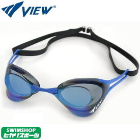 スイミングゴーグル ビュー VIEW Blade ZERO ブレードゼロ 競泳 水泳 FINA承認 ミラーゴーグル ノンクッション V127MR-SKBL