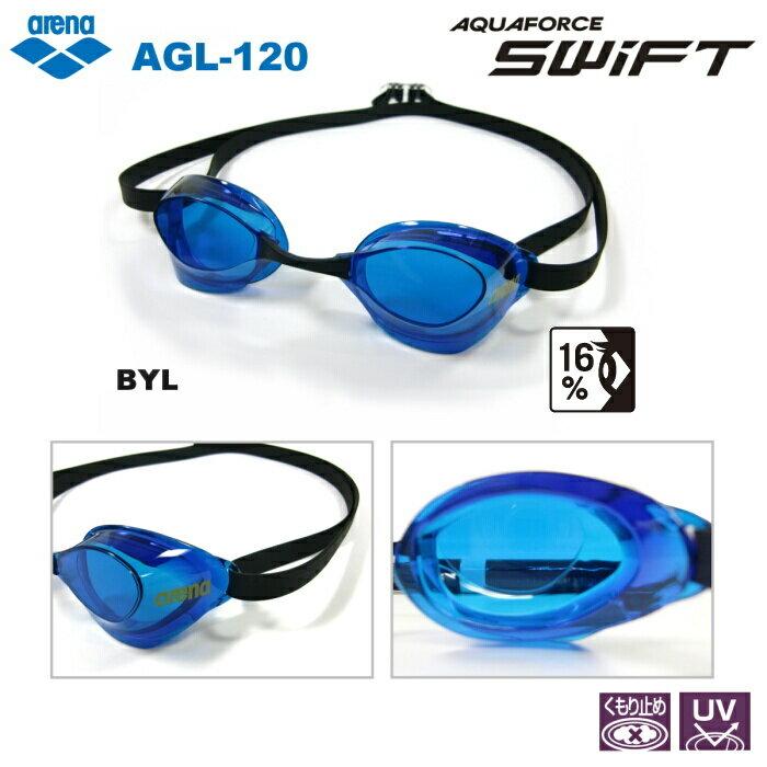 【スイムゴーグル】ARENA アリーナ ノンクッション スイミングゴーグル クリアタイプ AQUAFORCE SWIFT(アクアフォーススイフト) 水泳 AGL-120-BYL
