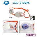 【スイムゴーグル】ARENA アリーナ クッション付き スイミングゴーグル ミラータイプ SPLASH(スプラッシュ) 水泳 AGL-210MPA-YCL