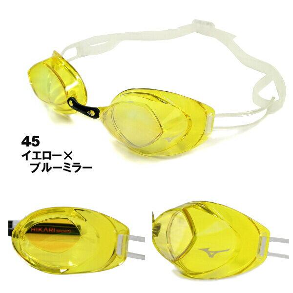 MIZUNO ミズノ 競泳用ノンクッションスイムゴーグル FINA承認モデル ACCELEYE CUTTER S アクセルアイカッターエス ミラータイプ 85YA25145-HK