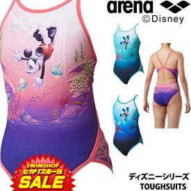 《クーポンで更にお値引き》アリーナ ARENA 競泳水着 レディース 練習用 スーパーフライバック タフスーツ タフスキンD [ディズニーシリーズ ミッキー] 競泳練習水着 2019年春夏モデル DIS-9301W