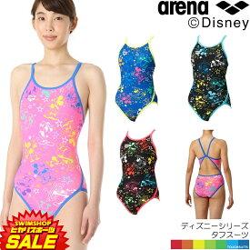 【3点以上のお買い物で5%OFFクーポン配布中】アリーナ ARENA 競泳水着 レディース 練習用水着 スーパーフライバック タフスーツ タフスキンD [ディズニーシリーズ ミッキー] 競泳練習水着 2019年春夏モデル DIS-9303W
