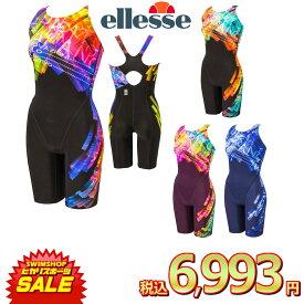 《決算SALE!クーポン配布中》エレッセ ellesse 競泳水着 レディース fina承認 プリズムロゴプリントFオールインワン ウルトラストレッチF 2019年春夏モデル ES49100F