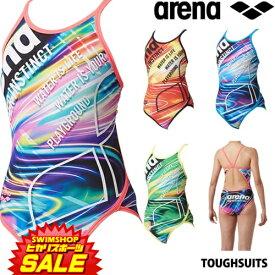 【3点以上のお買い物で3%OFFクーポン配布中】アリーナ ARENA 競泳水着 レディース 練習用水着 スーパーフライバック タフスーツ タフスキンD 競泳練習水着 2019年春夏モデル SAR-9105W