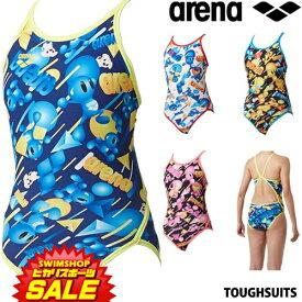 【3点以上のお買い物で3%OFFクーポン配布中】アリーナ ARENA 競泳水着 レディース 練習用水着 スーパーフライバック タフスーツ タフスキンD [アリーナ君] 競泳練習水着 2019年春夏モデル SAR-9111W