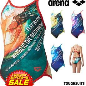 《クーポンで更にお値引き》アリーナ ARENA 競泳水着 レディース 練習用水着 スーパーフライバック タフスーツ タフスキンD 競泳練習水着 2019年春夏モデル SAR-9120W