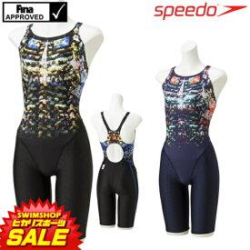 《今すぐ使えるクーポン配布中》スピード SPEEDO 競泳水着 レディース FINA承認 ウイメンズセミオープンバックニースキン FLEX Σ 2019年春夏モデル SCW11916F